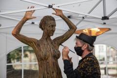 BODYART Kunstperformance WUNSTORF  (Aktmodell: Karo / Fotograf: E. Horstmann)