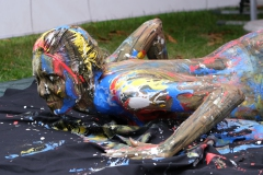 BODYART Kunstperformance WUNSTORF  (Aktmodell: Karo / Fotograf: M. Falk)