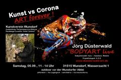 BODYART Werbung Kunstperformance WUNSTORF