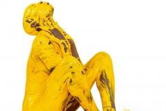 BODYART Bodypainting YELLOW.SPLASH  (Bodyartmodel: Lenny / Fotograf: Dennis Largo Schulz)