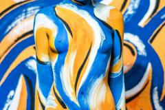 BODYPAINTING ART Kunstperformance YELLOWBLUE (Bodypaintingmodell: Marcela / Projektfotograf: Jens Burger)