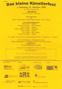 DAS KLEINE KÜNSTLERFEST (Brullsen 2000)
