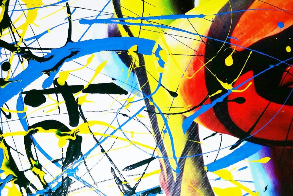 Bodyart-Künstler Jörg Düsterwald kreiert auf Basis von Fineart-Fotos seiner Bodypainting-Performances exklusive, jeweils einmalige Leinwand-Kunstwerke, die er mit Lackfarben künstlerisch veredelt.