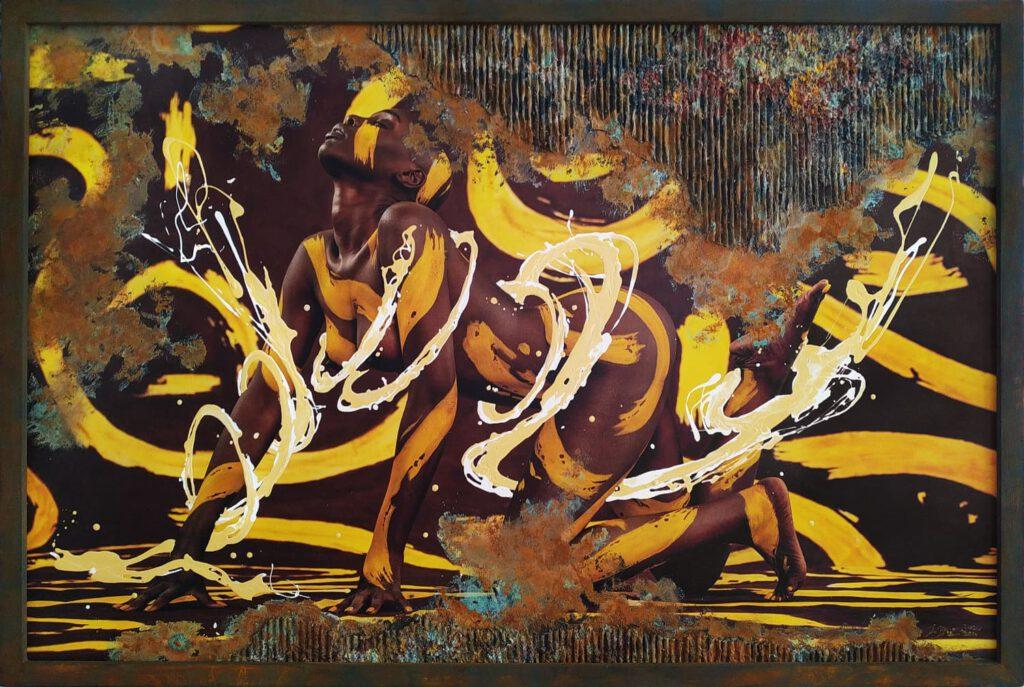 Leinwandbilder-Unikat aus der Serie BODYART vom Künstler Jörg Düsterwald. Ganz neu interpretierte Bodypaintingfotos, die per Print auf Leinwänden mit glänzenden Lackfarben handmade gefinished werden. Jedes SpecialArt-Werk ist ein exklusives ART-Einzelstück.