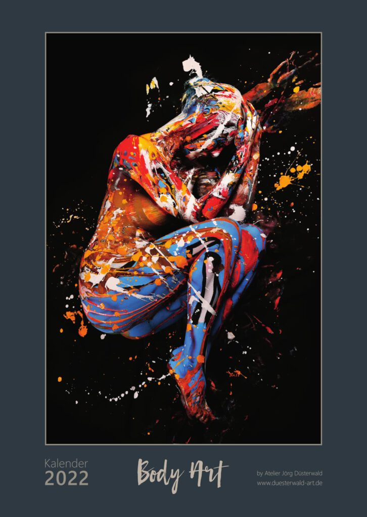 Ein exklusiver Kunstkalender 2022 in großem XXL-Format DIN A2 mit Körperkunst-Motiven des BODYART-Künstlers Jörg Düsterwald in exklusiver, limitierter Auflage. Hameln, Veröffentlichung im Sommer/Herbst 2021