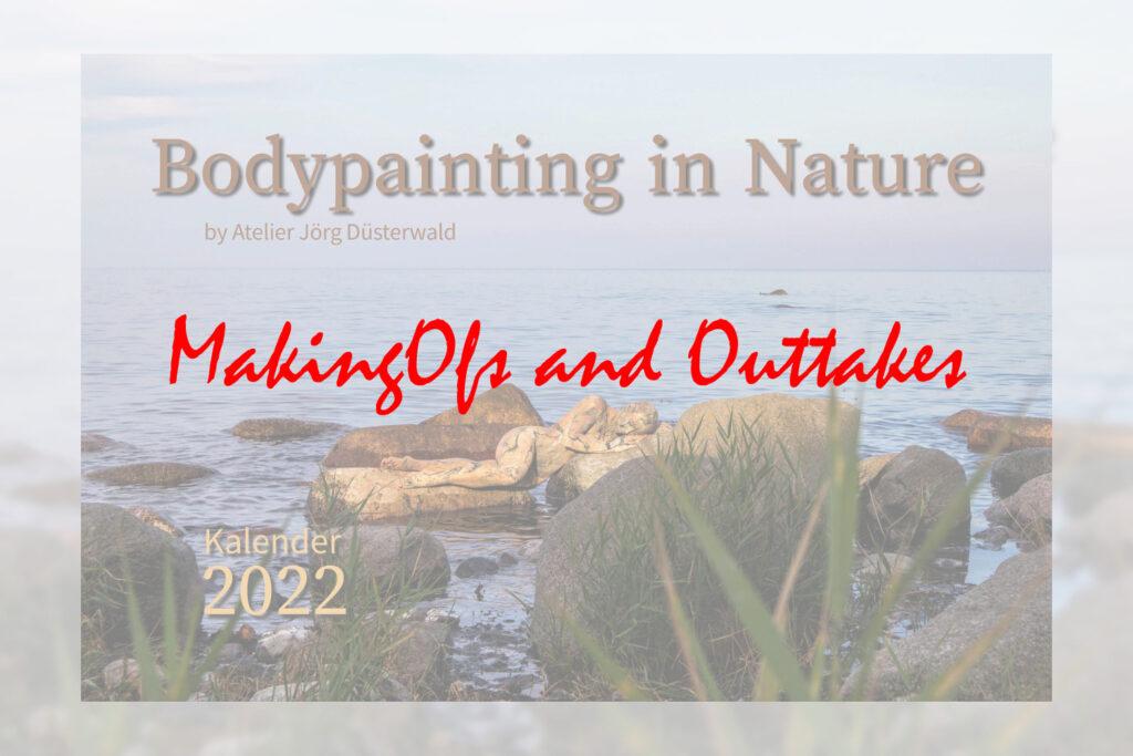 Titelbild für den Film von Ansichten der Produktionen der Bodypainting-Motive NATUREART, die z.T. Ihren Platz in dem Premium Kalender BODYPAINTING IN NATURE 2022 finden